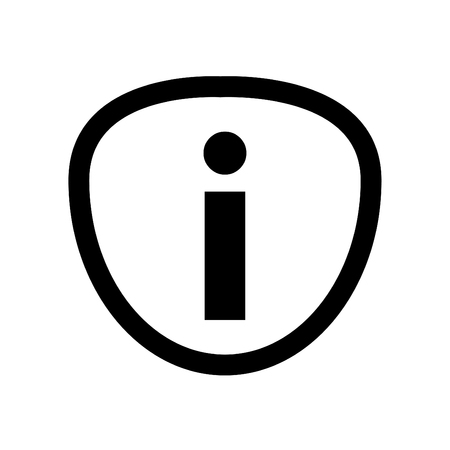 Information Icon Linear Style - on White Background 向量圖像