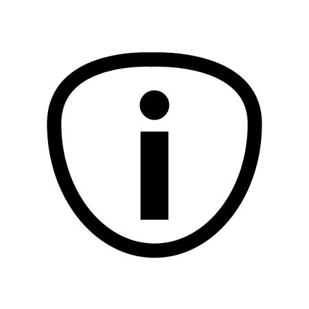 Information Icon Linear Style - on White Background 版權商用圖片 - 110118685
