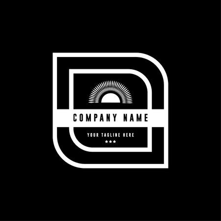 Badge logo - badges and labels logo - vintage logo - Vector White 8
