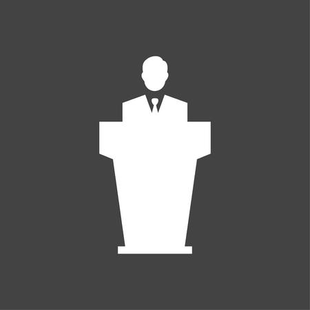 Business Speaker Icon White