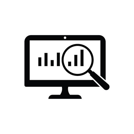 Business Growth Analysis Icon Black Ilustração