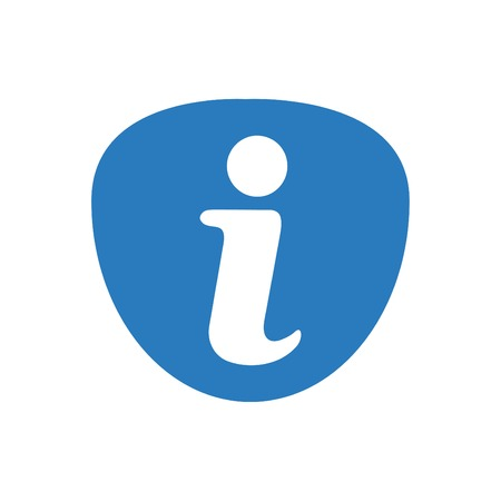 Information icon - info sign vector blue 向量圖像