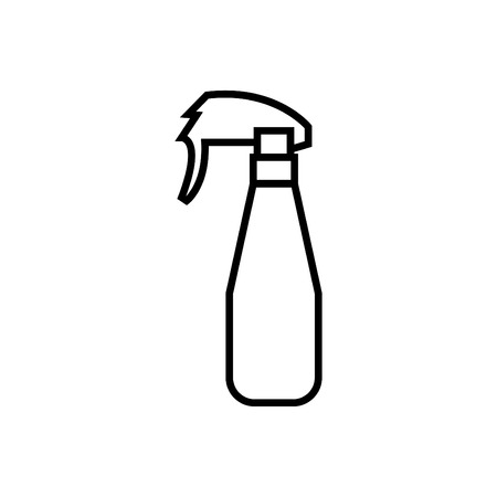 Sprayer icon in thin outline style - perfume Sprayer icon vector Ilustrace