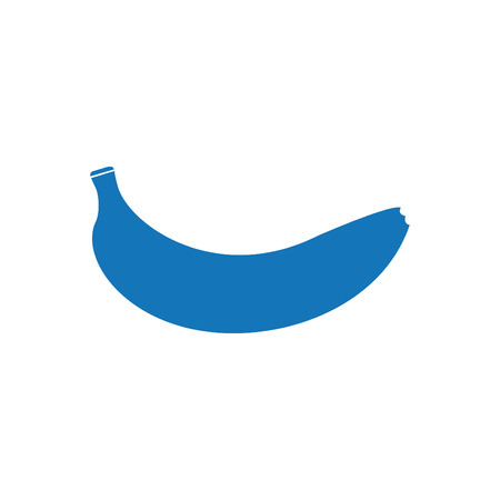 Banana Icon Blue Vettoriali