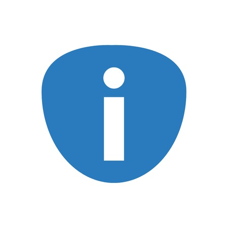 Information Icon Isolated Blue - on White Background