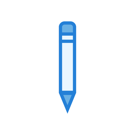 Line art icon pencil - linear style vector blue