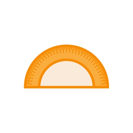 Protractor colorful icon vector - linear style icon