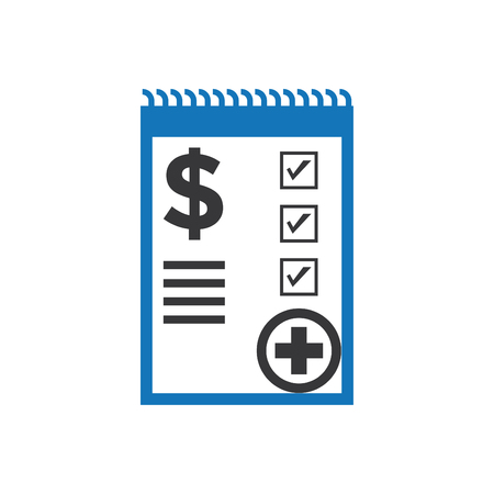 Medical Bill Icon Blue