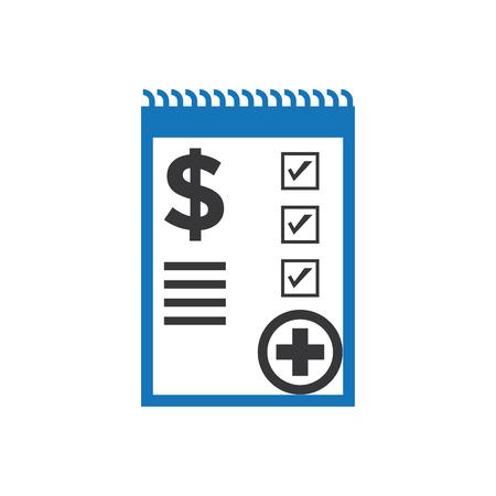 Medical Bill Icon Blue