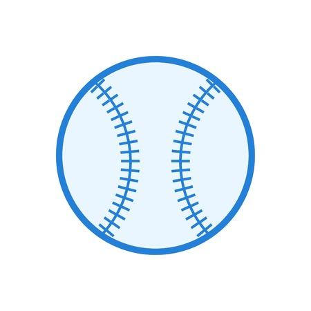 Baseball icon vector - Linear style design