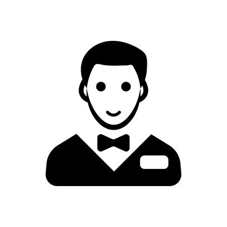 Waiter glyph icon vector black