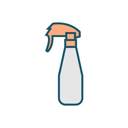 Sprayer icon in thin outline style - perfume Sprayer icon vector colorful