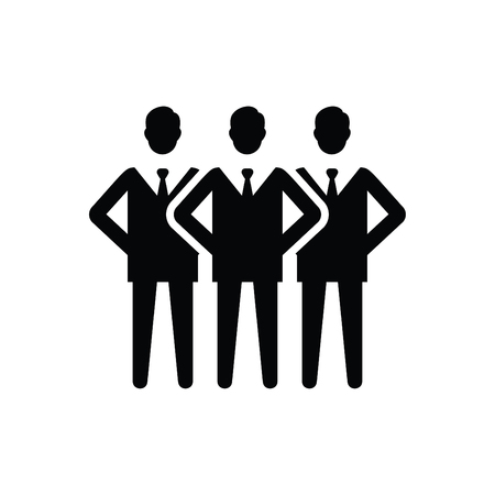 Three Business Icon Black