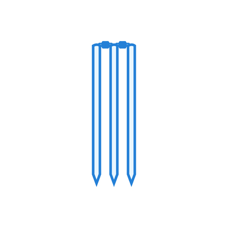 Cricket wicket icon - linear style vector Illustration