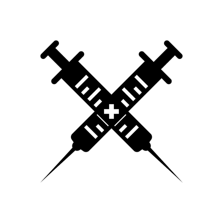 Injection Vector Icon Black