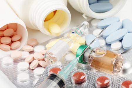 mumps: Pillsdrug Stock Photo