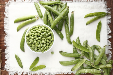 hulled: hulled green peas photographed in daylight color images Stock Photo