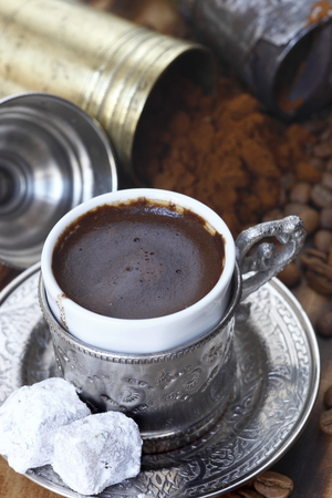 turkish coffee: daylight macro photographed Turkish coffee, food and drinks
