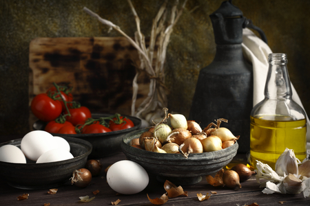 aceite de cocina: daylight photographed food materials, color image, food