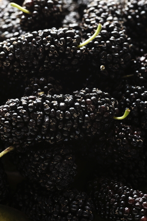 vertical wellness: daylight macro photographed mulberry, healthy food