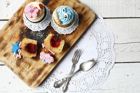 prepared food: in daylight photographed colorful cakes, prepared food Stock Photo