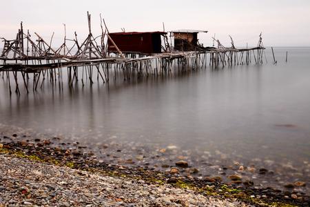 fischerei: Langzeitbelichtung Umeda bei Tageslicht Fischerei fotografiert
