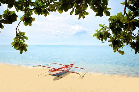Summer Beach at Alinda Beach, Sorong. West Papua, Indonesia