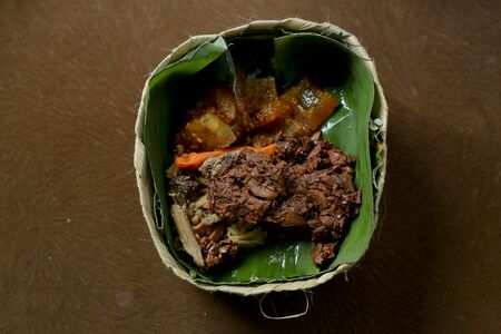 Gudeg Besek, traditional Food From Yogyakarta Indonesia. Side View 版權商用圖片