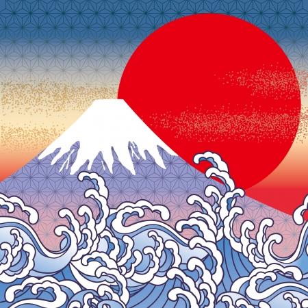 ukiyoe: Mt  Fuji in Japan