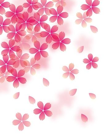 A cherry tree dances Vector