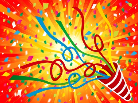 new year s card: Party Cracker