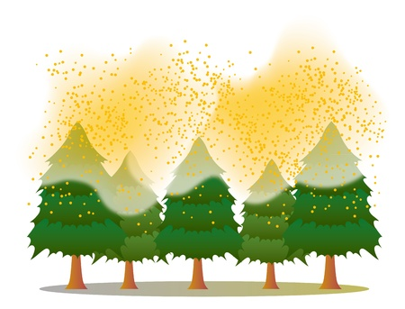 Pollen_cedar forest Stock Vector - 18076578
