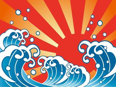 fisheries: Large wave Illustration