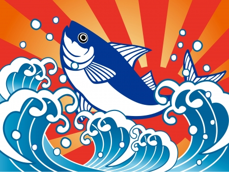 Good-catch flag_tuna Vector