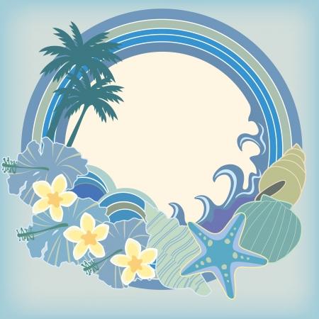 ностальгический: Каркас ностальгические море Иллюстрация