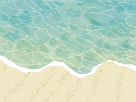 砂のビーチ