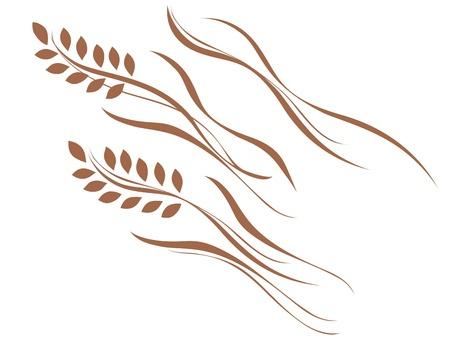 美しいカーブのご飯  イラスト・ベクター素材