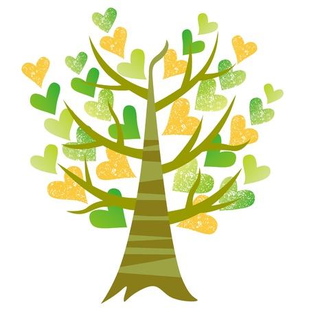 Der Baum der Herzen Vektorgrafik