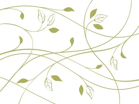 A green curve  向量圖像