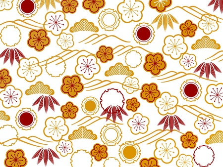 patterns japan: The Japanese style background of a plum