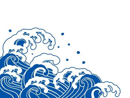 La ola de una pintura japonesa Foto de archivo - 20225918