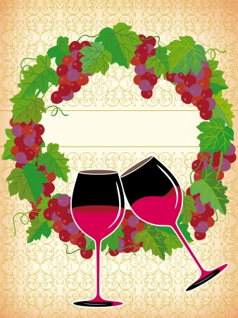 A beautiful illustration of glass and wine Vector