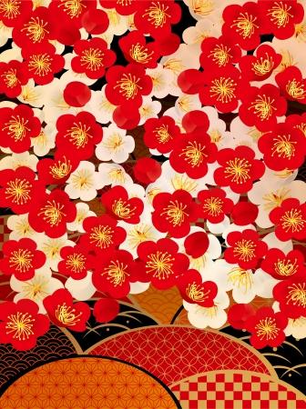 Pattern of beautiful plum