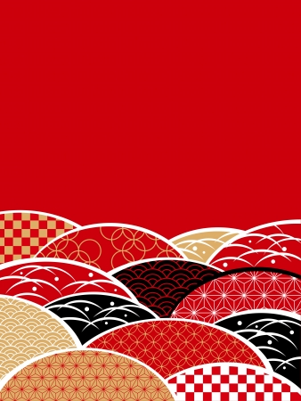 japanese new year: A Japanese style pattern of Japan