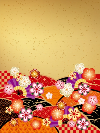 The Japanese style background of the new year of Japan