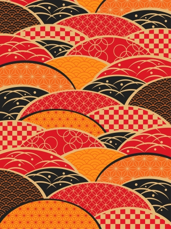japanese style: A Japanese style pattern of Japan