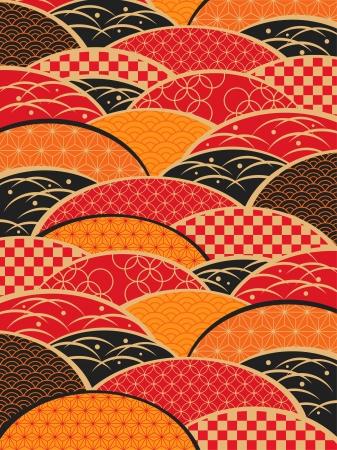 comida japonesa: Un patrón de estilo japonés de Japón Vectores