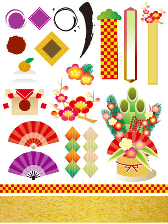 new year s card: The vector material of the New Year of Japan Illustration