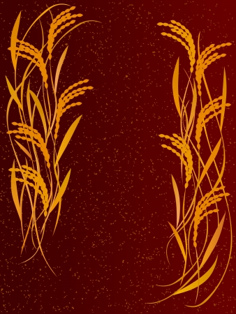 쌀 세피아의 포스터 일러스트