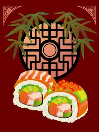 寿司とアジアのポスター